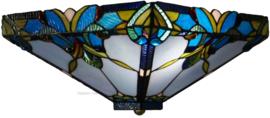 141352 80 Plafonniere Tiffany 36x36cm 2xE27 Blue Drop