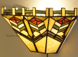 5827 Wandlamp Tiffany B31cm schelpmodel Dark Imperial