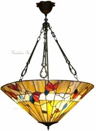 "TG62-FCL Hanglamp Tiffany H100cm Ø50cm ""Bernwood"""