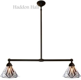 5899 Hanglamp B90cm met 2 Tiffany kappen Ø25cm Astoria Brown