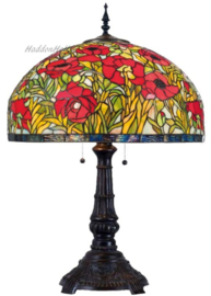Y2012 Tafellamp Tiffany H77cm Ø51cm Amapolas
