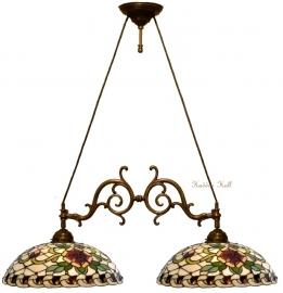 5419 Hanglamp met 2 Tiffany kappen Ø40cm Santana