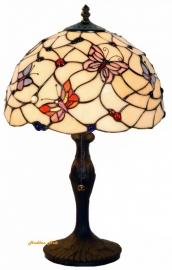 770 9318 Tafellamp Tiffany H48cm Ø30cm Pink Butterfly