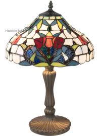 5919 Tafellamp Tiffany H46cm Ø31cm Merlot