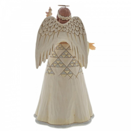 White Woodland Angel with Cardinals H25cm Jim Shore 6004767