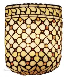 T021 Wandlamp Tiffany B20cm schelpmodel Mille Feux