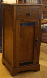 Telefoonkast Nachtkast H85cm 40x40cm Massief Teakhout