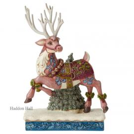 "Victorian Reindeer ""Aventure Bound""H26cm Jim Shore 6004181"