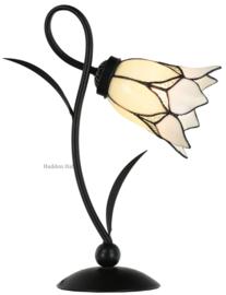 8100 Bureaulamp H40cm met Tiffany kap Ø16cm Lovely Flower White