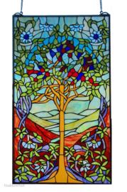 6090 Voorzetraam Tiffany 50x85cm Tree of Life