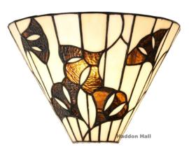8164 Wandlamp Tiffany B30cm Schelpmodel Ginkgo Leaf