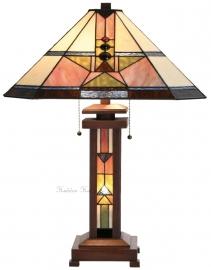 5781 Tafellamp Tiffany H70cm 48x48cm Verlichting in de voet Schuitema