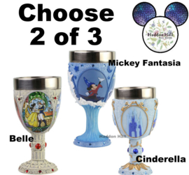 Goblets - Kies 2 van 3 - Belle - Mickey - Cinderella - Disney Showcase