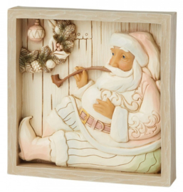 Plaque Sitting Santa 16x16cm - Jim Shore 6009566