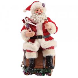"""Santa """"Barrel Tasting"""" H28cm Possible Dreams"""