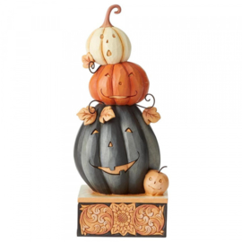 Feelin' Spooky  Stacked Jack-o-Lanterns Figurine H20cm Jim Shore 6004328