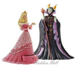 "Aurora ""Treasure Keeper"" & Maleficent ""Candy Curse"" Set van 2 Jim Shore figurines"