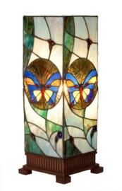 Tafellamp Tiffany 44 cm hoog  Windlicht 9961 met vlinder