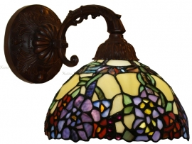 1103 8829 Wandlamp met Tiffany kap Ø22cm Flores