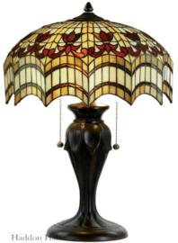 TG67L Tafellamp H58cm met Tiffany kap Ø43cm Vesta
