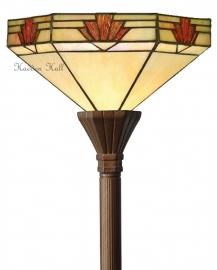 TM16S Vloerlamp H175cm met Tiffany kap Ø30cm Nevada