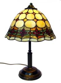 8828 Tafellamp Tiffany H38cm Ø26cm Victoria