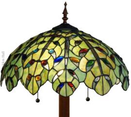 5293 9454 Vloerlamp Tiffany Ø43cmTeardrops  Ronde Voet