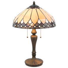 T048M Tafellamp Tiffany H60cm Ø40cm Brooklyn