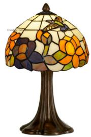 CT215 Tafellamp Tiffany H41cm Ø25cm Kolibrie