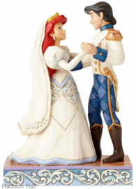 "ARIEL & PRINCE ERIC ""Wedding Bliss"" H 15cm Jim Shore 4056749"