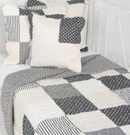 Q158 Clayre & Eef Bedsprei 140 x 220 cm Quilt Patchwork-style beddesprei