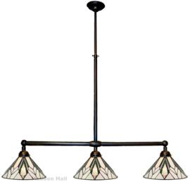 T026S Hanglamp B90cm met 3 Tiffany kappen Ø30cm Astoria