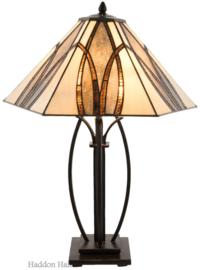 5913 Tafellamp Tiffany H66cm Ø51cm Round & Square