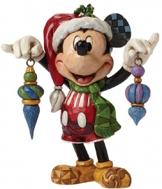 "MICKEY ""Deck The Halls"" H14cm Jim Shore 4046064"