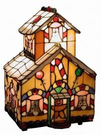 "774 Tiffany lamp H23cm ""Snoephuisje"""