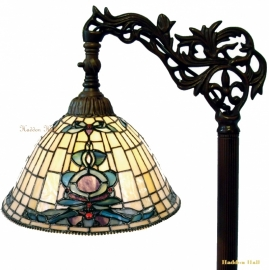 9004 9458 Vloerlamp H164cm met Tiffany kapje Ø26cm Blue-Oyster