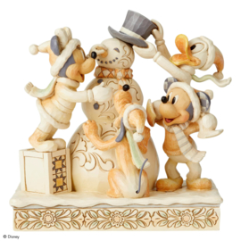 "Mickey Minnie Pluto Donald & Snowman ""Fab 5"" H Jim Shore 6002828"