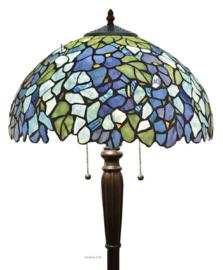 KT20V Vloerlamp Zwart H160cm met  Tiffany Ø50cm Violet