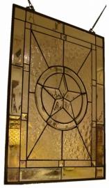 Voorzetraam Tiffany *47x65cm* Geslepen glas op=op!