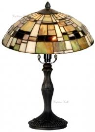 5348 9034 Tafellamp Tiffany H37cm Ø30cm Art Deco Green