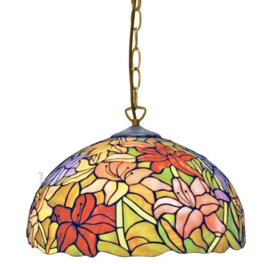 TT37 Hanglamp Tiffany Ø41cm Lilly Multicolor