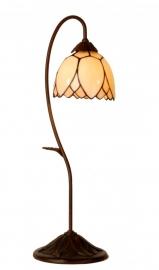 5461 Tafellamp H61cm met Tiffany kap Ø15cm  Lelie