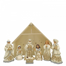 Silver-Gold Nativity Set H15cm Jim Shore 6006651