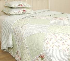 Q021 Clayre & Eef Bedsprei 300 x 260 cm Quilt Patchwork