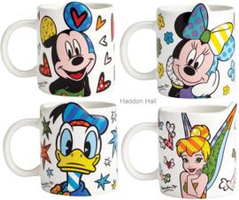 Mickey Minnie Donald Tinker Bell Set van 4 Britto mokken
