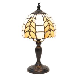 5992 Tafellamp Zwart H29cm met Tiffany kap Ø14cm Treccia