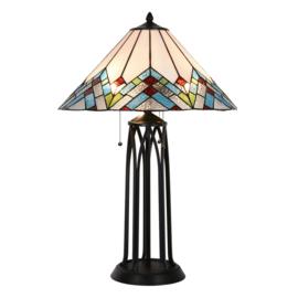 5393 Tafellamp Tiffany H75cm Ø51cm Catedral