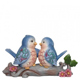 """Happiness Together"" B20cm Lovebirds Jim Shore 6002102"