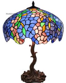 6070 Tafellamp Tiffany H61cm Ø43cm Blue Wisteria