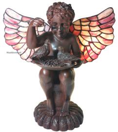 """6049 Tiffany lamp H33cm """"Angelus cum Avidus"""""""
